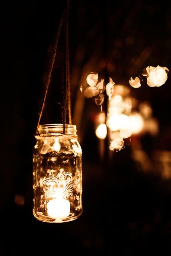 iluminación de vuestra boda velas bote