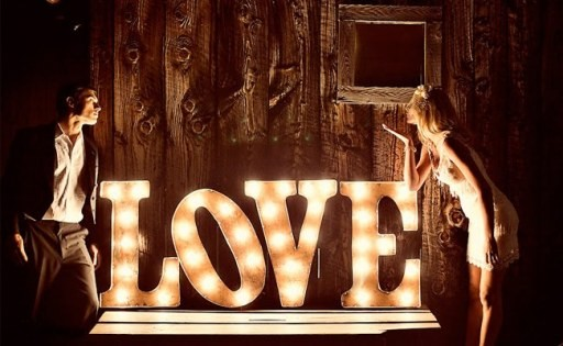 iluminación de vuestra boda letras